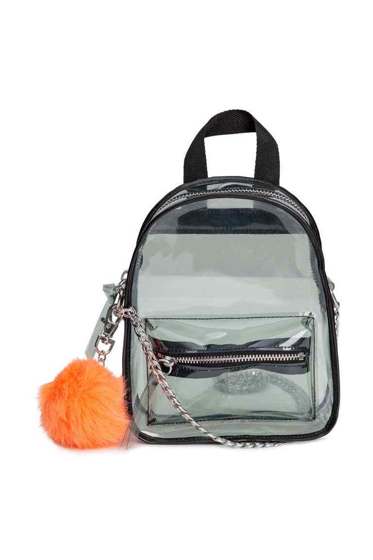 Mini sac à dos transparent - Transparent/noir - FEMME | H&M FR
