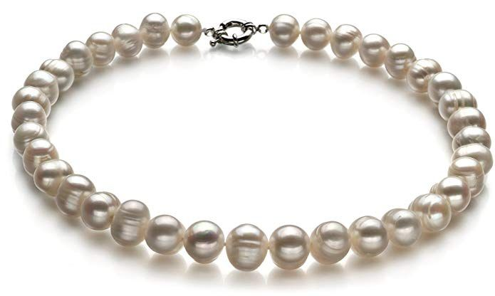 AAA+ 10-11MM NATURAL WHITE FRESHWATER CULTURED PEARL NECKLACE 18/'/'