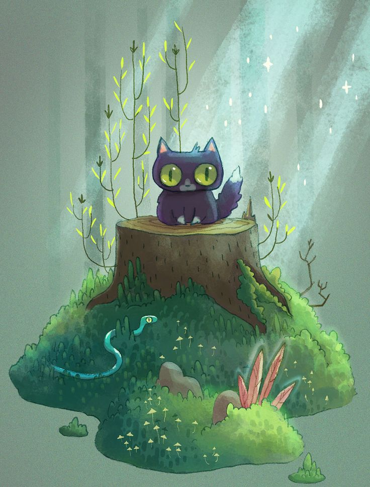Little Big Adventures Of A Cat Lost In The Woods   Bored Panda