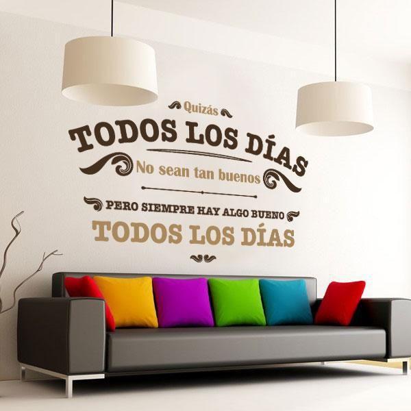 Entrar todos los días a tu sala y encontrar estas frases positivas, animan tu estado de ánimo. Ideas para decoración de salas.