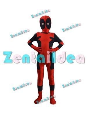 Classic Kids Spandex Deadpool Superhero Costume