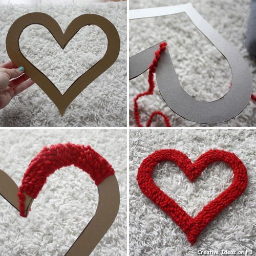 34 best Yarn Valentine's Day images on Pinterest | Valentine ideas ...