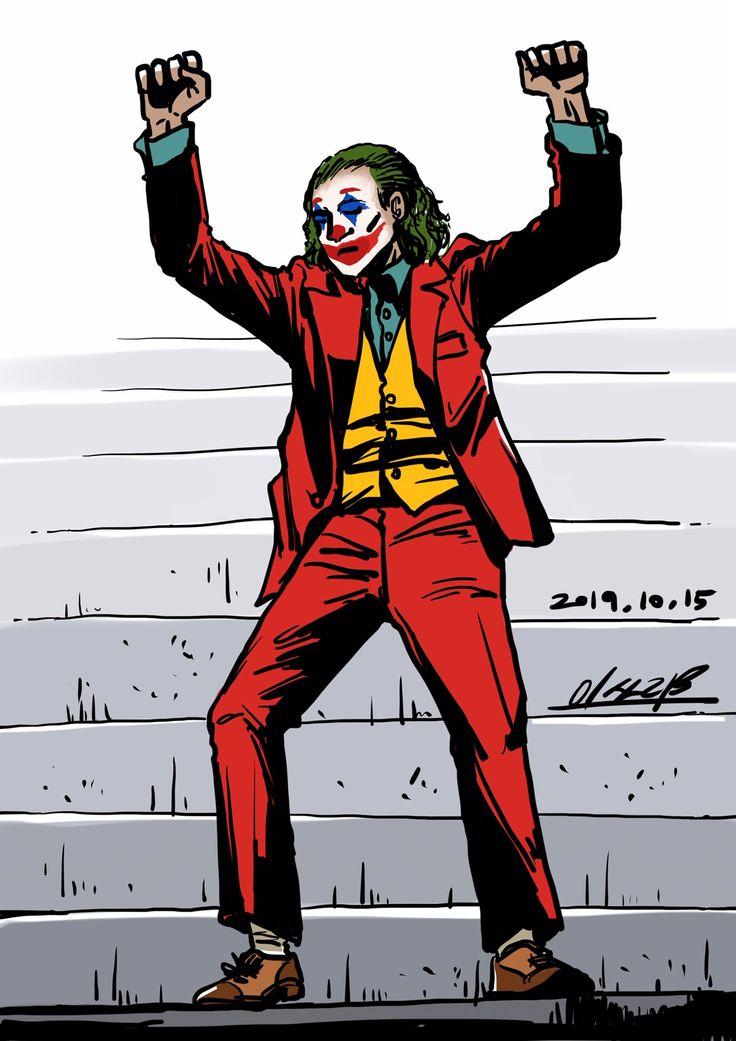 Joker on the stairs
