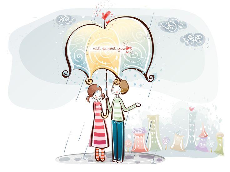 fondos de pantalla de dibujos animados de San Valentín (1) #5 - 1600x1200