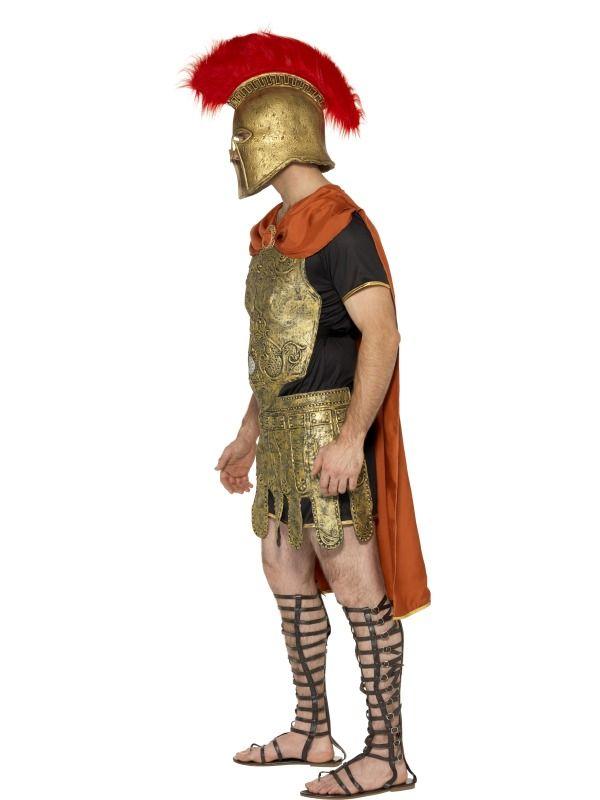 Costume soldato Romano. completo di tunica con mantello rosso,corazza e gonna. Travestimento da adulto per carnevale o festa a tema. TG.M. Disponibile da C&C Creations Store
