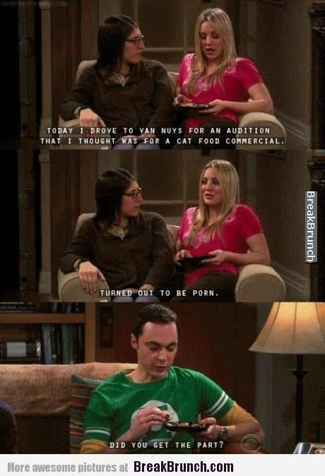 Christine Baranski Big Bang Theory Porn - Big Bang Theory Sheldon is so blunt!