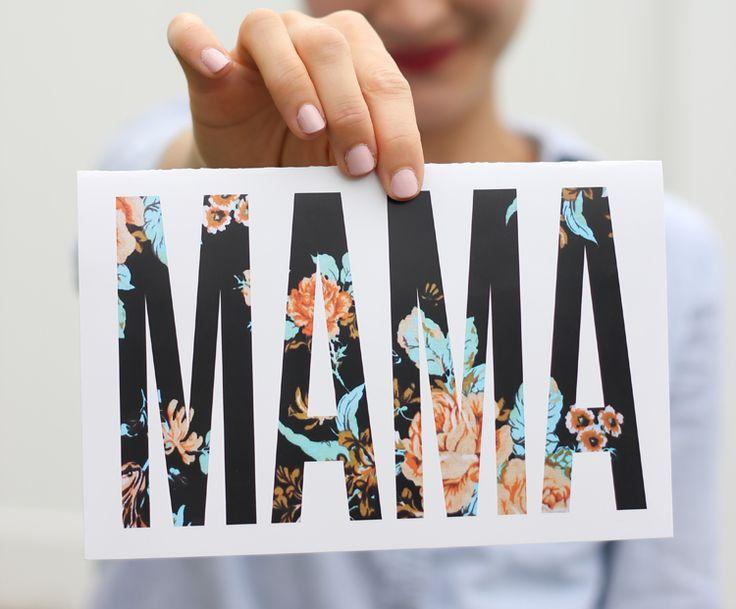 Free Mother's Day Printables - // 3 modelos de tarjetas para el Día de la Madre o cumpleaños