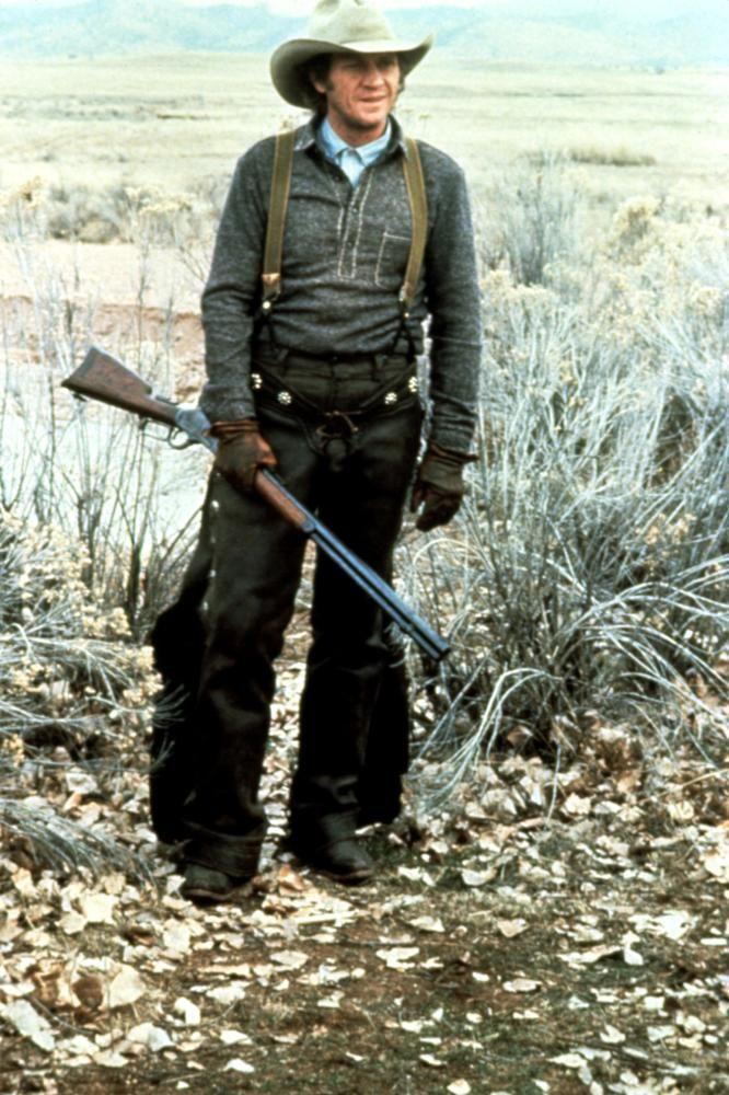 "TOM HORN - Steve McQueen as bounty hunter & stock detective, ""Tom Horn"" - Warner Bros. - Publicity Still."