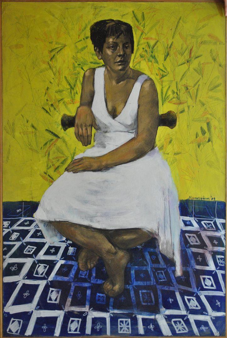 Original painting by Nikos Christoforakis Mixed media Size: 134x102cm