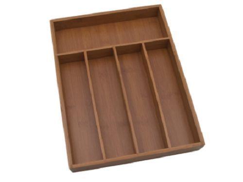 Drawer Flatware Storage Tray Bamboo Silverware Organizer Kitchen 10 25x14 Inch…