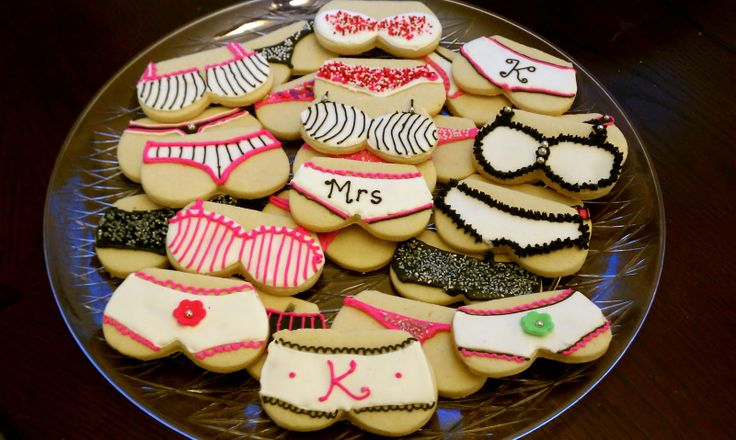 pinterest bachelorette party ideas | used a roll out sugar cookie recipe and cut the cookies with a heart ...