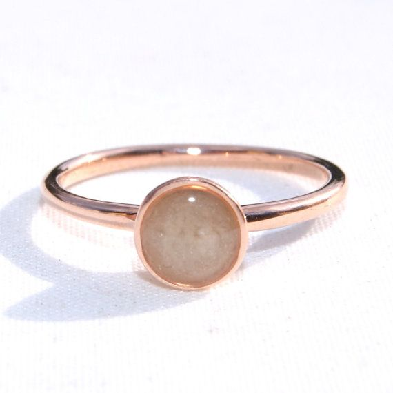 14K Rose Gold 5mm Circle Ring Encompassing Solidified Ashes by CloseByMe @gracestewart568 for Melba <3