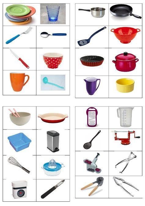 Imagiers memoire vocabulaire cuisine imagier et - Ustensile de cuisine pour enfants ...