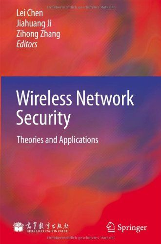 I'm selling Wireless Network Security: Theories and Applications by Lei Chen, Jiahuang Ji and Zihong Zhang - $50.00 #onselz