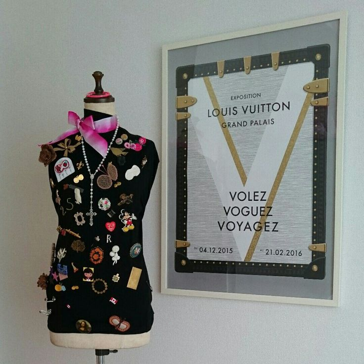 room decoration with antique broach
