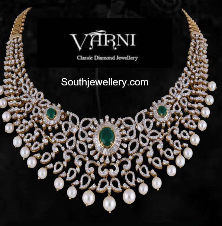 Diamond Emerald Necklace photo