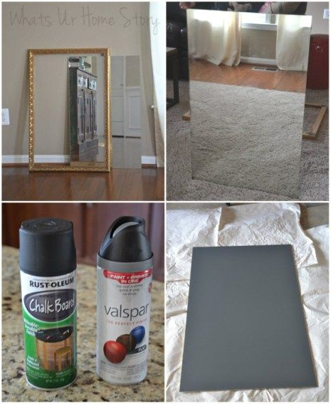 Turn a mirror into a chalkboard without painting over the mirror!
