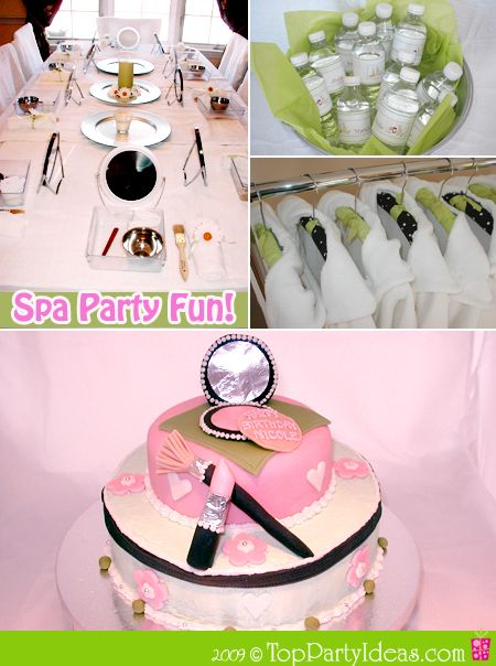 136 best SPA Party images on Pinterest Spa birthday parties
