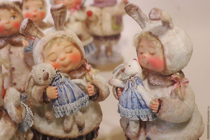 """Купить """"Рождественский подарок """" - рождество, Рождество Христово, праздника оформление, ватная игрушка"""