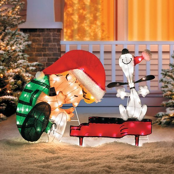 Outdoor Lighted Pre Lit Peanuts Snoopy Display Christmas Holiday Yard Decoration #HomeImprovements