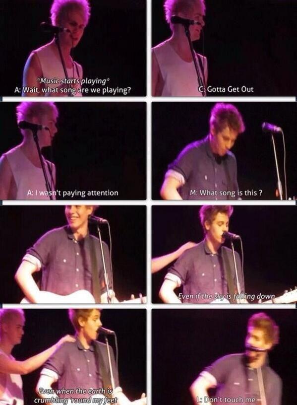 Luke is me whenever anyone comes near me