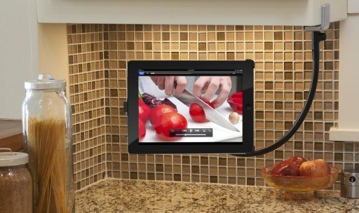 Twelve South Hover Bar for iPad Use this flexible iPad stand to keep your tablet off the counter when you're using it in the kitchen.