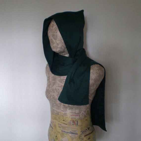 Wizard hoodie scarf on Etsy, $28.00