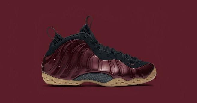"""The Nike Air Foamposite One """"Night Maroon"""" is available now at kickbackzny.com.  _ Preorder open for men's & gradeschool sizes."""