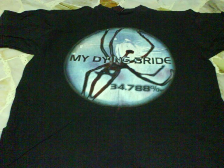 My Dying Bride - 34.788% T-shirt (front)