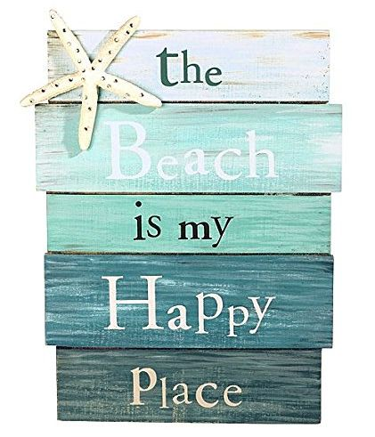 The Beach is my Happy Place... Wood Sign: http://ocean-beach-quotes.blogspot.com/2015/01/the-beach-is-my-happy-place.html