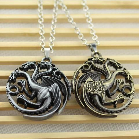 Game Of Thrones Daenerys Targaryen Blood & fire Necklace GoT - The Cynical Clique - 2