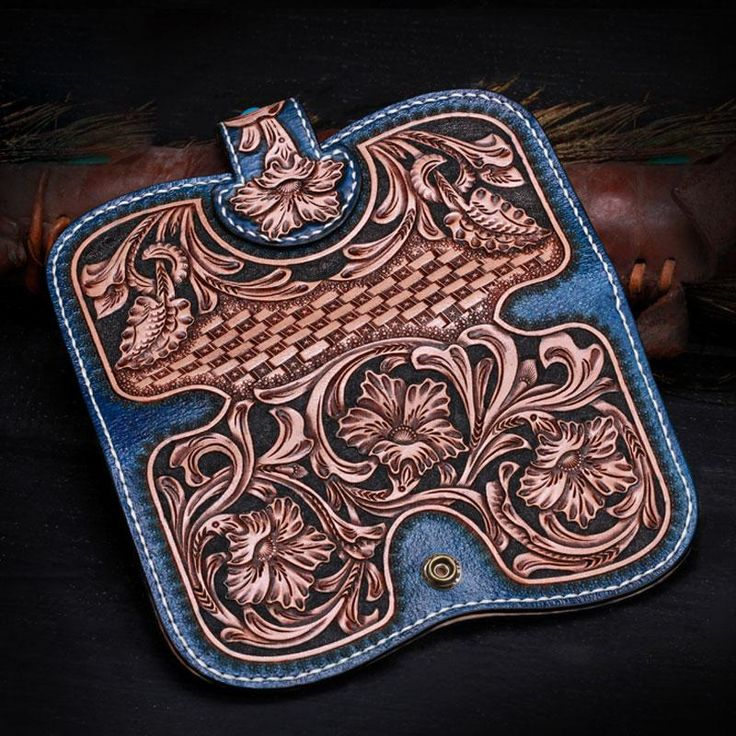 Overview: Design: Handmade Leather Tooled Floral Mens Clutch Wallet Cool Wallet Long Wallets for Men WomenIn Stock:  Ready to Ship (2-4 days)Include: Only Walle