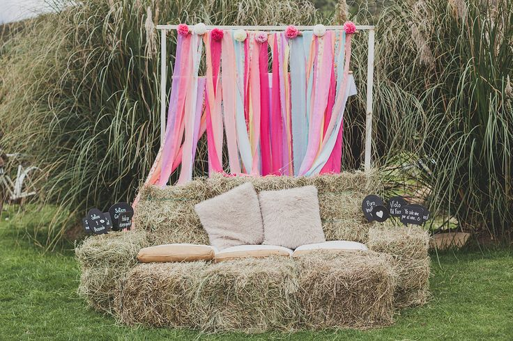 Rustic outdoor wedding - photo station efeunodos fotografía - celebramos el amor