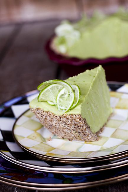 Joy's Secret Ingredient Lemon Lime Avocado No Sugar Icebox Pie | www.foodiewithfamily.com