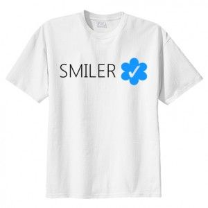 T-shirt koszulka SMILER VERIFIED Miley print napis nadruk shirt fashion modna dla fana fan