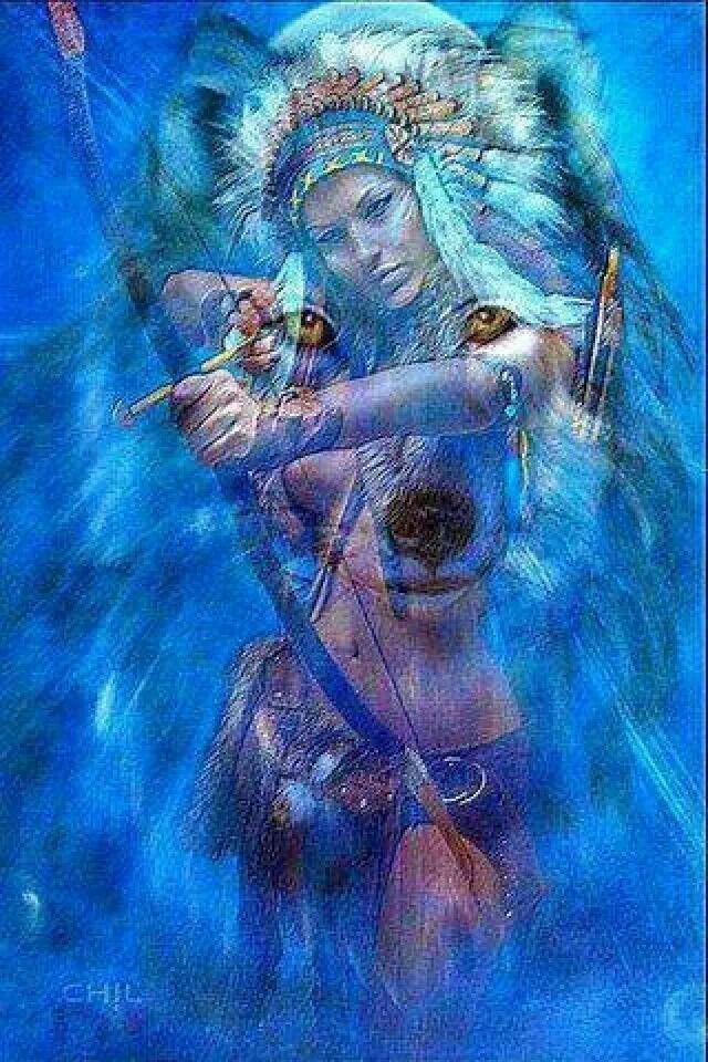 Wolf Spirit Female Warrior