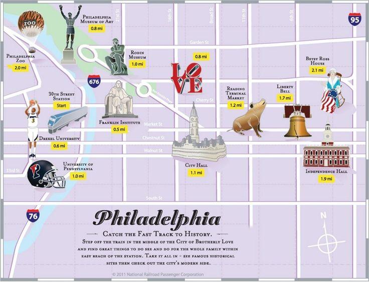 The Best Philadelphia Map Ideas On Pinterest - Philadelphia map in usa