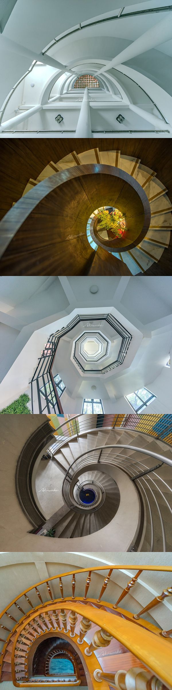 So beautiful!See the Guangzhou rotating staircase collection From another point of view.Guess where  is there? (photo by @AdolescentChat )
