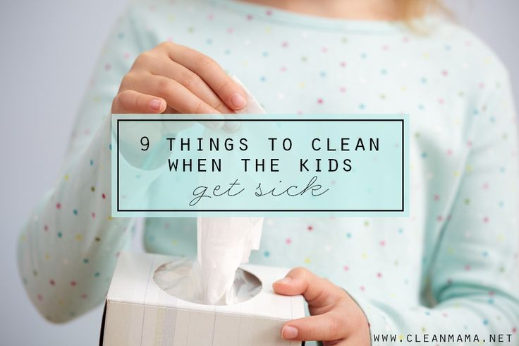 Hello, cold and flu season! What to clean when your kids get sick to help minimize the germs.