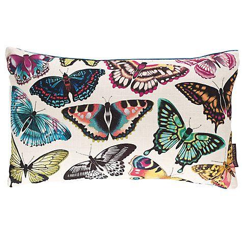 Buy Harlequin Papilio Butterflies Cushion, Multi Online at johnlewis.com