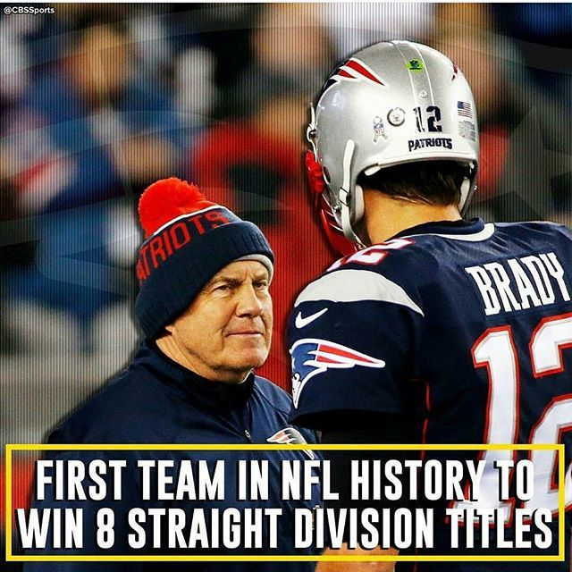 Only losing twice in the last 16 years!  Patriots Dynasty! That's My Patriots !!
