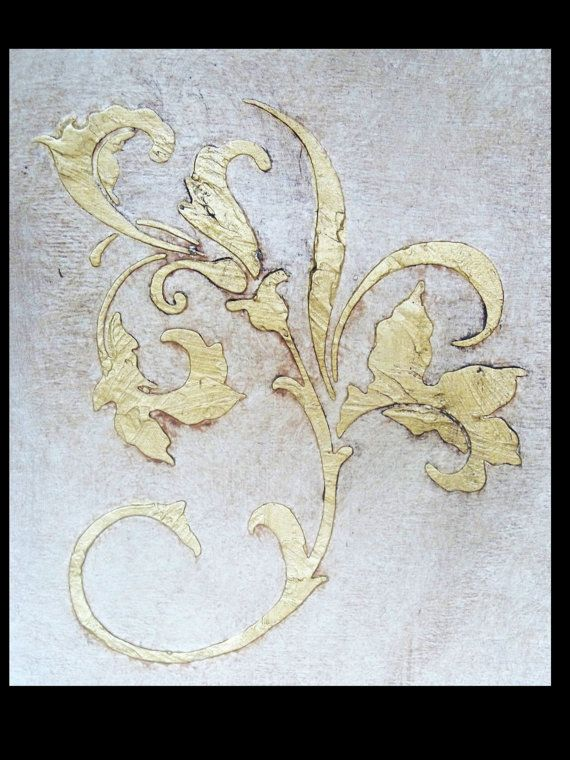 how to make raised plaster stencils