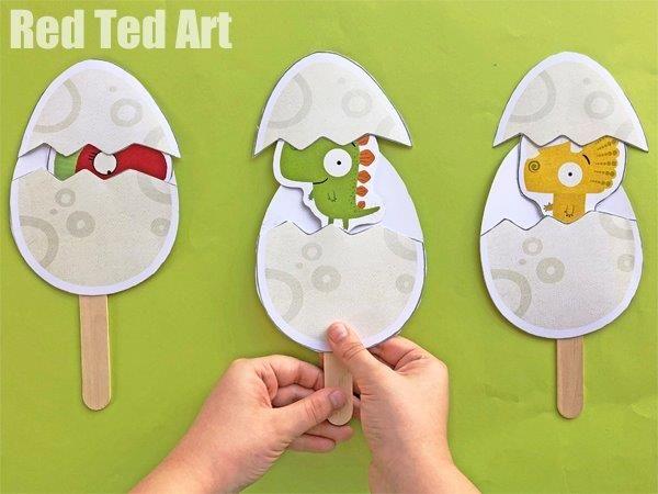 Pop Up Dinosaur Juniors (inspired by Rob Biddulph) – Red Ted Art's Blog