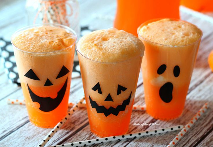 Fanta Jack O'Lantern Floats | Belle of the Kitchen