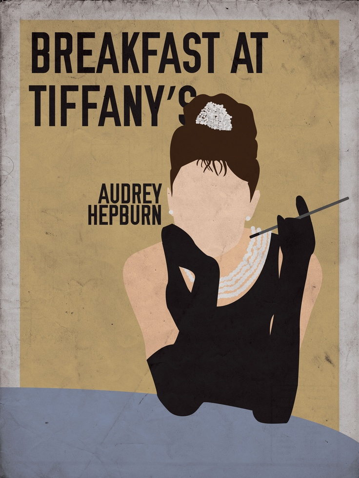 Movie Print Redesign. 1961 film Breakfast at Tiffany's