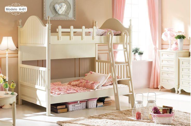 Traumhaftes Hochbett Happy für Kinder #etagenbett #kinder #weiss #weiß #leiter