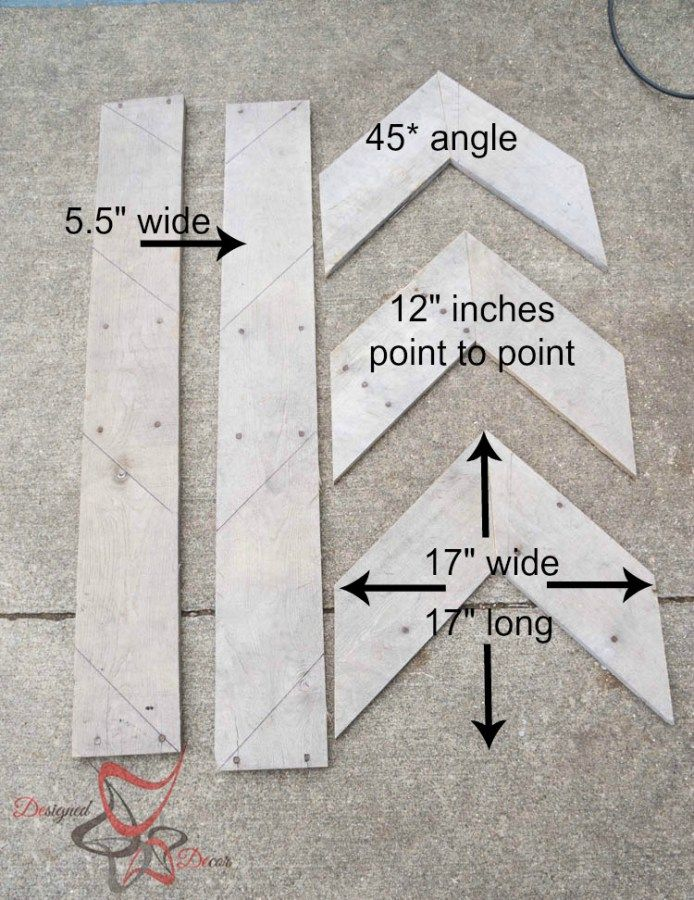 DIY repurposed wood arrows