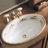 Found it at Wayfair - Pheasant Design On Vintage Self Rimming Bathroom Sink