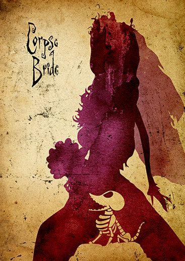 Tim Burton Corpse Bride Minimalist Poster by moonposter on Etsy