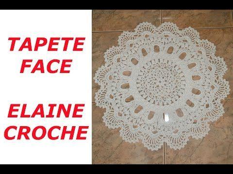 TAPETE FACE EM CROCHE - YouTube